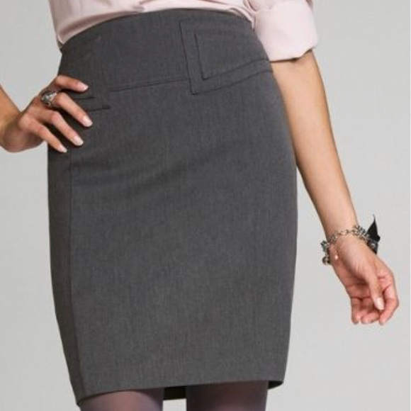 f17a33f68 Express Skirts | Gray Highwaist Buckleback Pencil Skirt | Poshmark